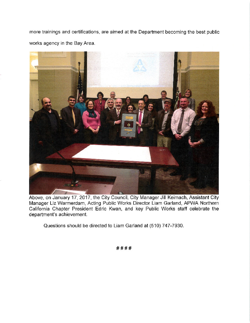 City of Alameda Accreditation pg2