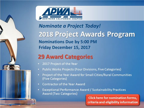 2018 Project Awards Nomination Forms Available!