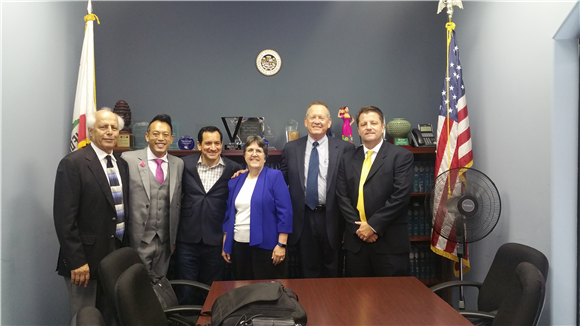 Edric met with Anthony Rendon to discuss state bills that may affect local infrastructure